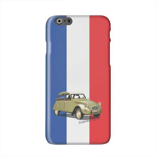 Citroen 2CV on Blue/ White/ Red Solid White Hard Case Cover for Apple iPhone 6 PLUS/6S PLUS (5.5 inch)