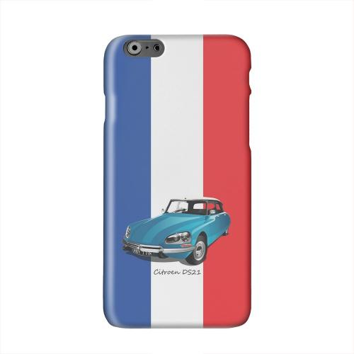 Citroen DS21 on Blue/ White/ Red Solid White Hard Case Cover for Apple iPhone 6 PLUS/6S PLUS (5.5 inch)
