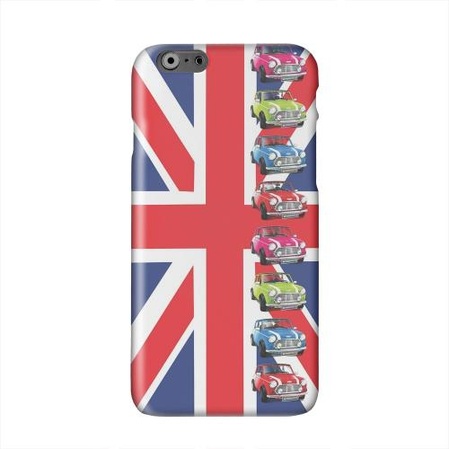 Multi Mini Coopers on Union Jack Solid White Hard Case Cover for Apple iPhone 6 PLUS/6S PLUS (5.5 inch)