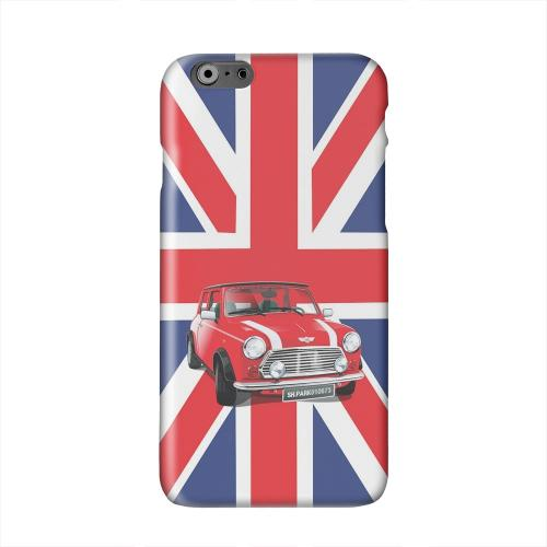 Solo Mini Cooper on Union Jack Solid White Hard Case Cover for Apple iPhone 6 PLUS/6S PLUS (5.5 inch)
