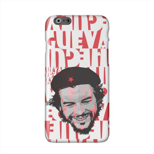 Che Guevara Happy Revolutionary on Red Solid White Hard Case Cover for Apple iPhone 6 PLUS/6S PLUS (5.5 inch)