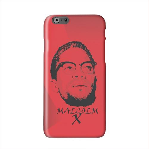 Malcolm X in the Middle on Red Solid White Hard Case Cover for Apple iPhone 6 PLUS/6S PLUS (5.5 inch)