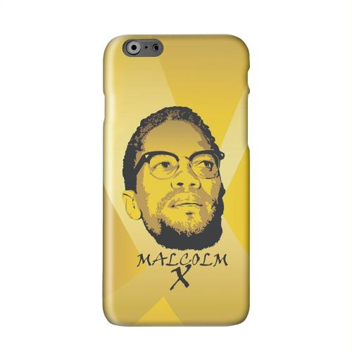 Malcolm X in the Middle on Yellow Solid White Hard Case Cover for Apple iPhone 6 PLUS/6S PLUS (5.5 inch)