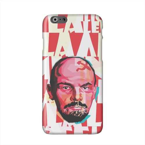 Lenin Complex on Red Solid White Hard Case Cover for Apple iPhone 6 PLUS/6S PLUS (5.5 inch)