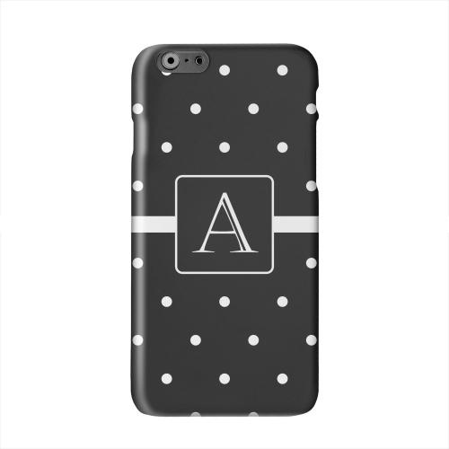 Monogram A on Classic Mini Polka Dots Solid White Hard Case Cover for Apple iPhone 6 PLUS/6S PLUS (5.5 inch)