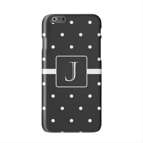 Monogram J on Classic Mini Polka Dots Solid White Hard Case Cover for Apple iPhone 6 PLUS/6S PLUS (5.5 inch)