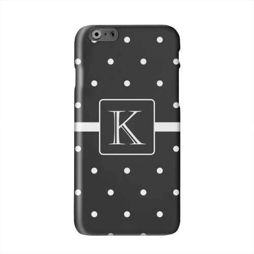 Monogram K on Classic Mini Polka Dots Solid White Hard Case Cover for Apple iPhone 6 PLUS/6S PLUS (5.5 inch)