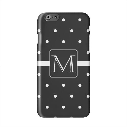 Monogram M on Classic Mini Polka Dots Solid White Hard Case Cover for Apple iPhone 6 PLUS/6S PLUS (5.5 inch)