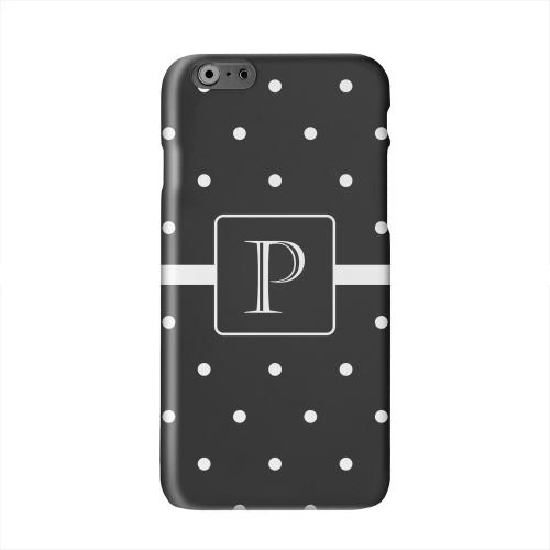 Monogram P on Classic Mini Polka Dots Solid White Hard Case Cover for Apple iPhone 6 PLUS/6S PLUS (5.5 inch)