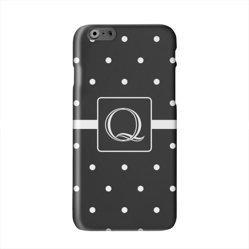 Monogram Q on Classic Mini Polka Dots Solid White Hard Case Cover for Apple iPhone 6 PLUS/6S PLUS (5.5 inch)