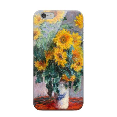 Geeks Designer Line (GDL) Apple iPhone 6 Matte Hard Back Cover - Claude Monet Bouquet of Sunflowers