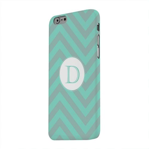 Geeks Designer Line (GDL) Apple iPhone 6 Matte Hard Back Cover - Seafoam Green Monogram D on Zig Zags