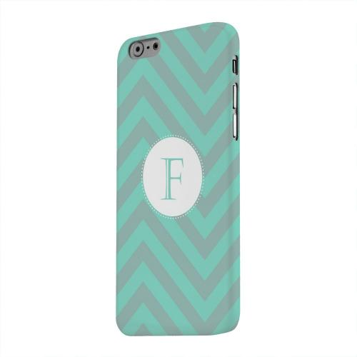 Geeks Designer Line (GDL) Apple iPhone 6 Matte Hard Back Cover - Seafoam Green Monogram F on Zig Zags