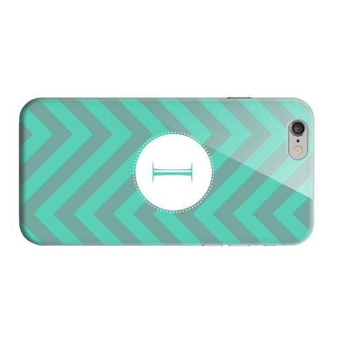 Geeks Designer Line (GDL) Apple iPhone 6 Matte Hard Back Cover - Seafoam Green Monogram I on Zig Zags