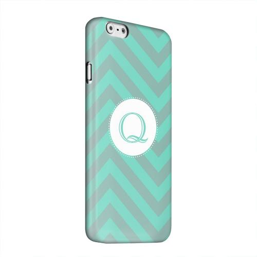 Geeks Designer Line (GDL) Apple iPhone 6 Matte Hard Back Cover - Seafoam Green Monogram Q on Zig Zags