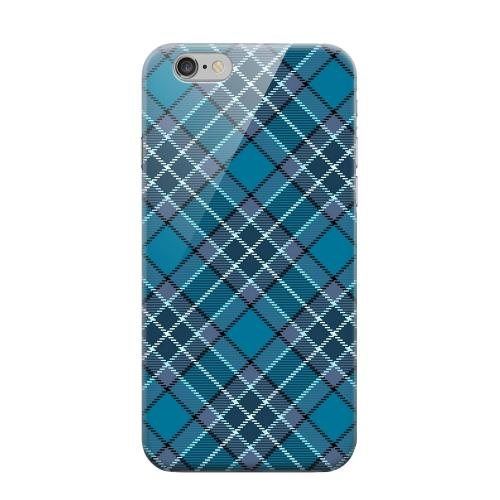 Geeks Designer Line (GDL) Apple iPhone 6 Matte Hard Back Cover - Dark Aqua/ White Plaid