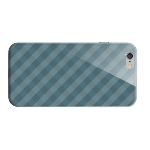 Geeks Designer Line (GDL) Apple iPhone 6 Matte Hard Back Cover - Blue/ Green/ White/ Gray Plaid