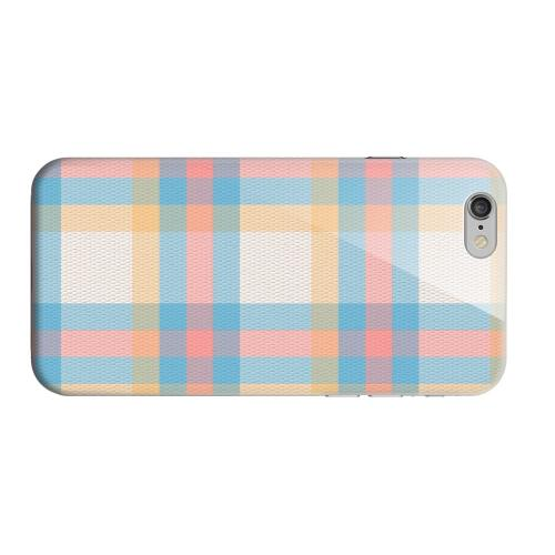 Geeks Designer Line (GDL) Apple iPhone 6 Matte Hard Back Cover - Blue/ Pink/ Orange Plaid Fabric