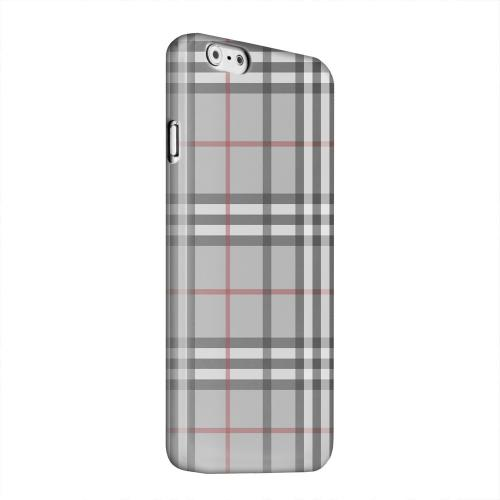 Geeks Designer Line (GDL) Apple iPhone 6 Matte Hard Back Cover - Classic Gray/ White/ Red Plaid