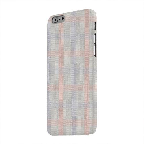 Geeks Designer Line (GDL) Apple iPhone 6 Matte Hard Back Cover - Faint Red/ Blue/ Gray Plaid
