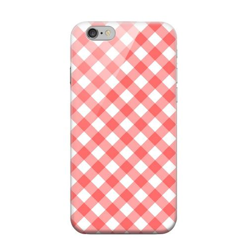 Geeks Designer Line (GDL) Apple iPhone 6 Matte Hard Back Cover - Light Red Plaid