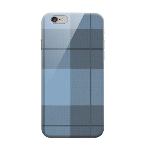 Geeks Designer Line (GDL) Apple iPhone 6 Matte Hard Back Cover - Off-Centered Zoom Blue Plaid