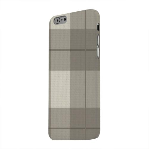 Geeks Designer Line (GDL) Apple iPhone 6 Matte Hard Back Cover - Off-Centered Zoom Brown Plaid