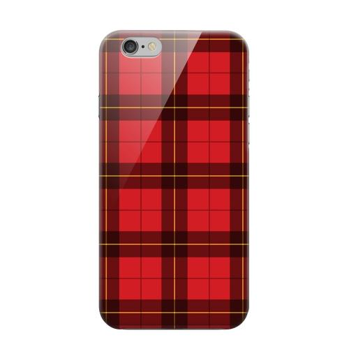 Geeks Designer Line (GDL) Apple iPhone 6 Matte Hard Back Cover - Scottish-Like Plaid in Red