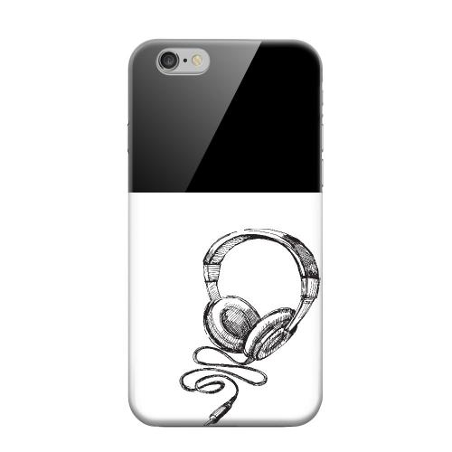 Geeks Designer Line (GDL) Apple iPhone 6 Matte Hard Back Cover - Head Bobbing Black