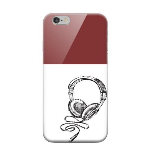 Geeks Designer Line (GDL) Apple iPhone 6 Matte Hard Back Cover - Head Bobbing Maroon