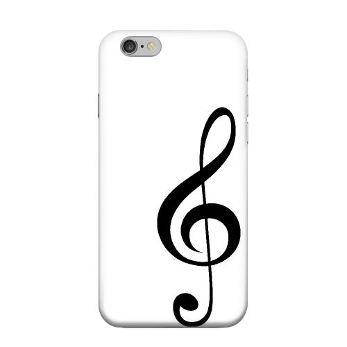 Geeks Designer Line (GDL) Apple iPhone 6 Matte Hard Back Cover - Simple Treble Clef
