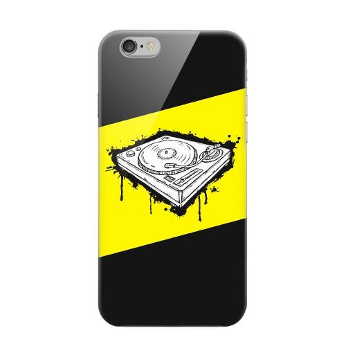 Geeks Designer Line (GDL) Apple iPhone 6 Matte Hard Back Cover - Wheel of Steel Yellow