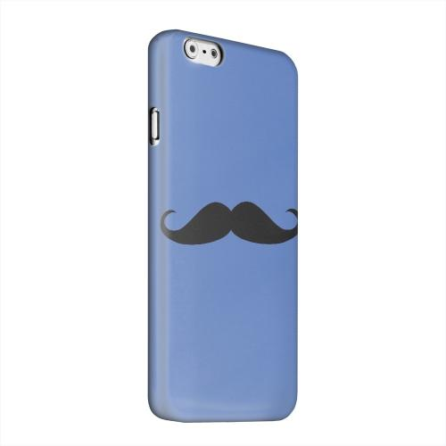 Geeks Designer Line (GDL) Apple iPhone 6 Matte Hard Back Cover - Mustache Blue