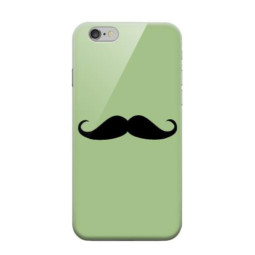 Geeks Designer Line (GDL) Apple iPhone 6 Matte Hard Back Cover - Mustache Greenish