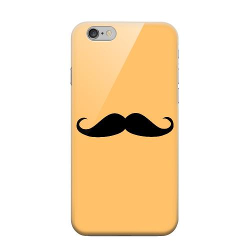 Geeks Designer Line (GDL) Apple iPhone 6 Matte Hard Back Cover - Mustache Orange