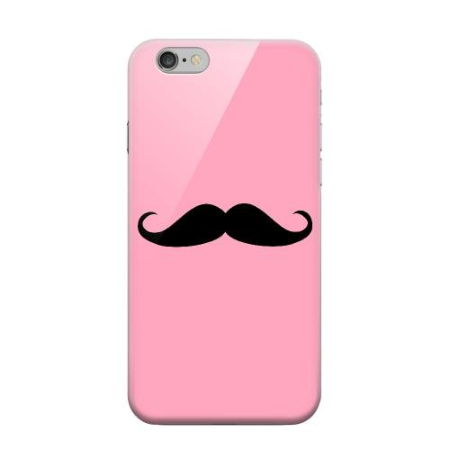 Geeks Designer Line (GDL) Apple iPhone 6 Matte Hard Back Cover - Mustache Pink