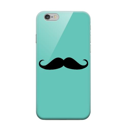 Geeks Designer Line (GDL) Apple iPhone 6 Matte Hard Back Cover - Mustache Teal