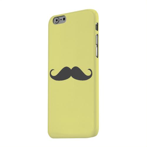 Geeks Designer Line (GDL) Apple iPhone 6 Matte Hard Back Cover - Mustache Yellow