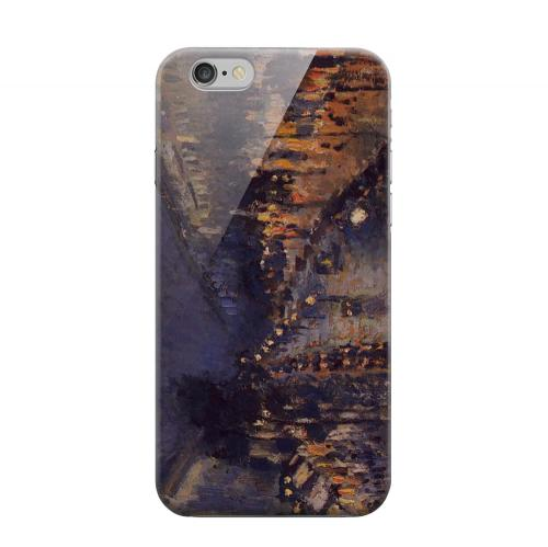 Geeks Designer Line (GDL) Apple iPhone 6 Matte Hard Back Cover - Boulevard Montmarte at Night by Camille Pisarro