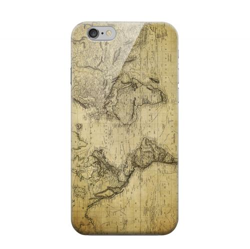 Geeks Designer Line (GDL) Apple iPhone 6 Matte Hard Back Cover - Vintage World Map Circa 1800's