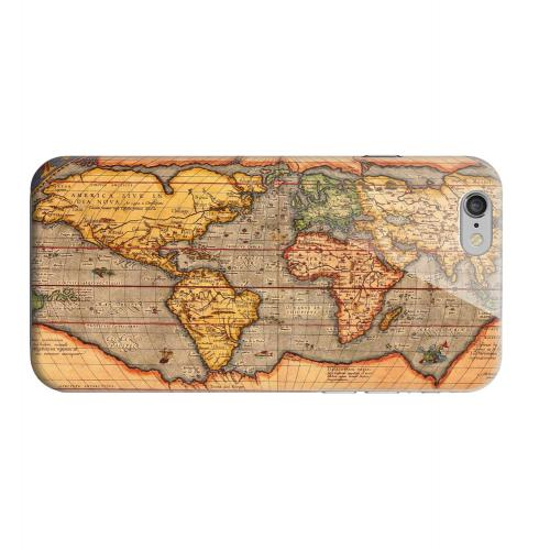 Geeks Designer Line (GDL) Apple iPhone 6 Matte Hard Back Cover - Ortelius World Map 1601