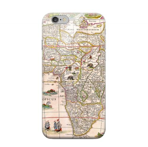 Geeks Designer Line (GDL) Apple iPhone 6 Matte Hard Back Cover - Map of Africae