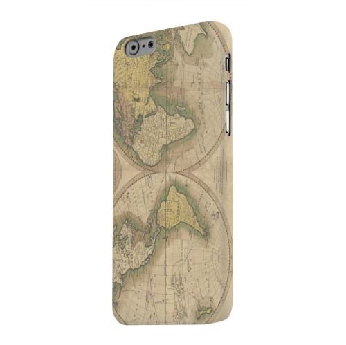 Geeks Designer Line (GDL) Apple iPhone 6 Matte Hard Back Cover - Map of the World Circa 1770's