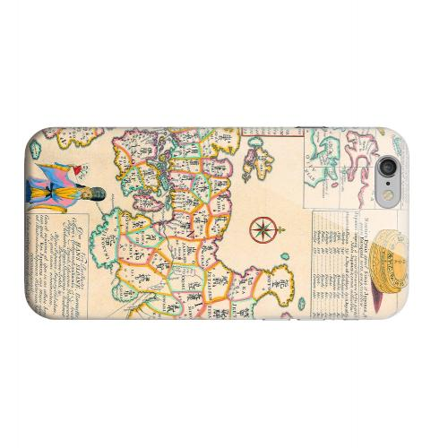 Geeks Designer Line (GDL) Apple iPhone 6 Matte Hard Back Cover - Old Japanese Empire Map