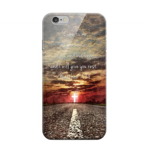 Geeks Designer Line (GDL) Apple iPhone 6 Matte Hard Back Cover - Matthew 11:28