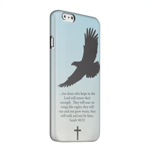 Geeks Designer Line (GDL) Apple iPhone 6 Matte Hard Back Cover - Isaiah 40:31 - Faint Blue