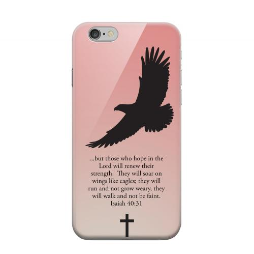Geeks Designer Line (GDL) Apple iPhone 6 Matte Hard Back Cover - Isaiah 40:31 - Wisp Pink