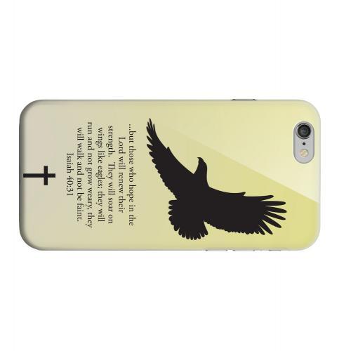 Geeks Designer Line (GDL) Apple iPhone 6 Matte Hard Back Cover - Isaiah 40:31 - Sunset Yellow