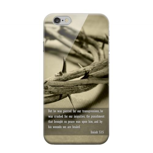 Geeks Designer Line (GDL) Apple iPhone 6 Matte Hard Back Cover - Isaiah 53:5