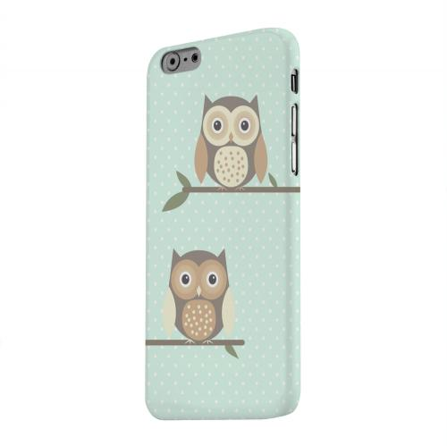 Geeks Designer Line (GDL) Apple iPhone 6 Matte Hard Back Cover - Retro Owls on Polka Dots
